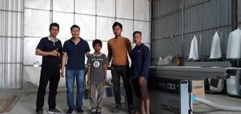 Công ty Panel Fitting tại Phnom Penh, Campuchia sử dụng Máy cưa bàn trượt Felder K 540 S