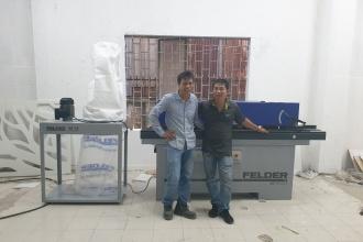 Công ty Tuấn Tú tại Quận 9, Hồ Chí Minh sử dụng Máy dán cạnh...