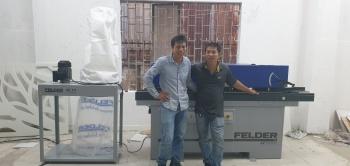 Công ty Tuấn Tú tại Quận 9, Hồ Chí Minh sử dụng Máy dán cạnh tự động G330 và Máy hút bụi AF14