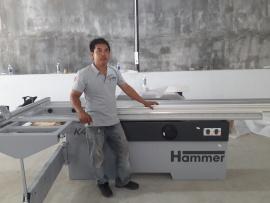 Khách hàng tại Quận Thủ Đức, HCM sử dụng máy cưa Hammer K4 Perform