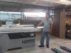 Công ty Nghị Phong tại Quận Thủ Đức, HCM sử dụng Máy cưa bàn trượt Hammer K4 Perform và Máy dán cạnh G480